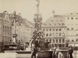 Marienplatz Fischbrunnen 1870