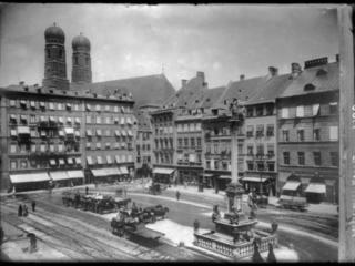 Marienplatz Ansicht Nordwestseite 1895