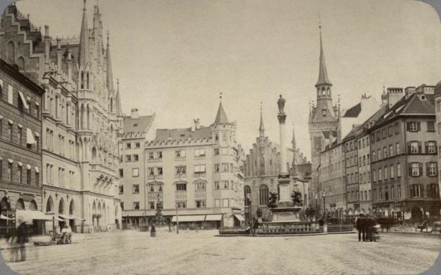 Marienplatz Mariensäule 1880