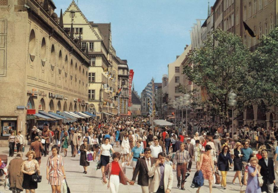 Neuhauser Straße Blick Richtung Marienplatz 1975