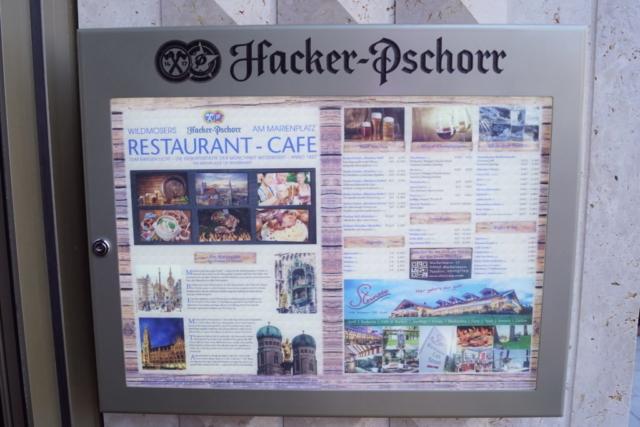 Speisekarte vom Wildmosers Restaurant-Cafe am Marienplatz