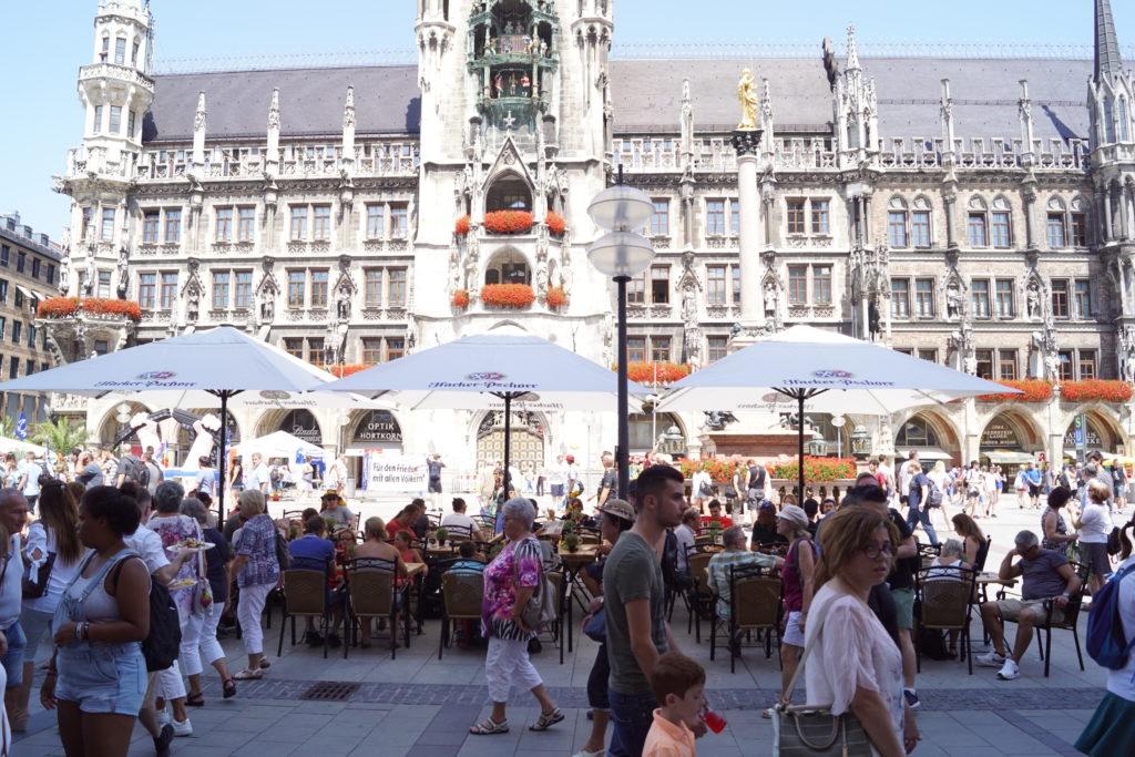 Blick auf den Marienplatz in München
