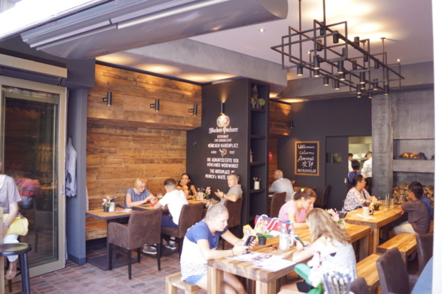 Innenansicht Restaurant-Cafe München am Marienplatz